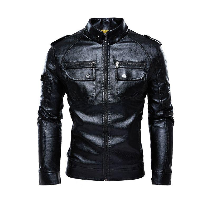 남자는 가죽 재킷과 코트 가을 두꺼운 폭격기 재킷 큰 사이즈 5XL의 따뜻함으로 만들어진 자켓 인조 가죽 모피 코트 스웨이드 자켓 가죽 후드