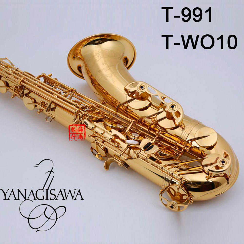 T-991 ب ب اللحن تينور ساكسفون عالية الجودة براس الذهب الطلاء الغربية اللعب آلات موسيقية ساكس مع حالة لسان الحال