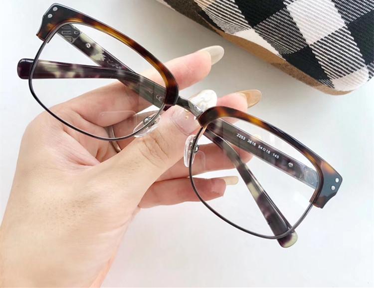 2020 ستار ريترو خمر B2253 الحاجب النظارات المستطيلة إطار للجنسين للالنظارات الطبية مع كامل مجموعة حدة الشحن