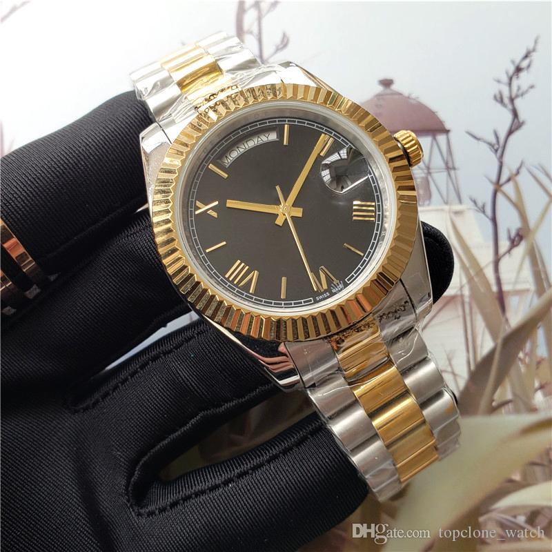 Heißer Verkauf Herrenuhren automatische Bewegung Tag Edelstahl Präsident Armband Datum Luxusuhren Saphirglas Designer wasserdichte Uhr