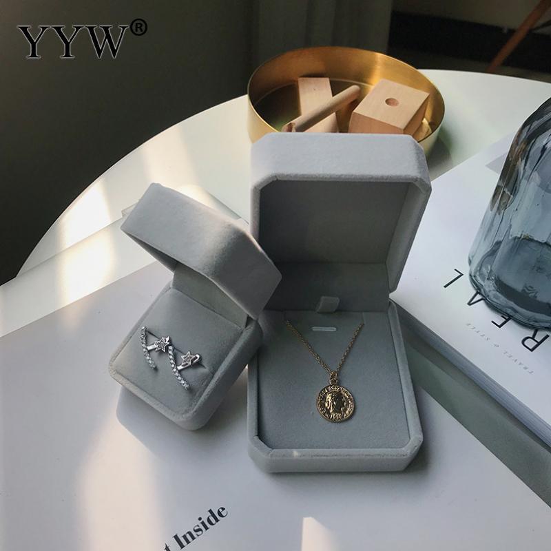 1pc Velvet Ohrring Box Schmuckschatullen für Frauen Art und Weise Hochzeits-Geschenk-Box-Ring Schmuck-Anzeigen-Speicher-Halter-Verpackung Etuis