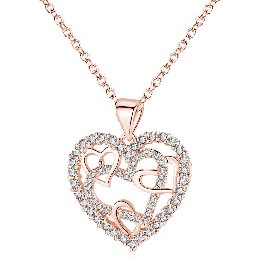 Рождество Вырез горячего сердца Обмотка Сердце ожерелье ювелирного изделия японского и корейского Стиль Micro Pave Танабат смарт Heartbeat ожерелье крест-Борд