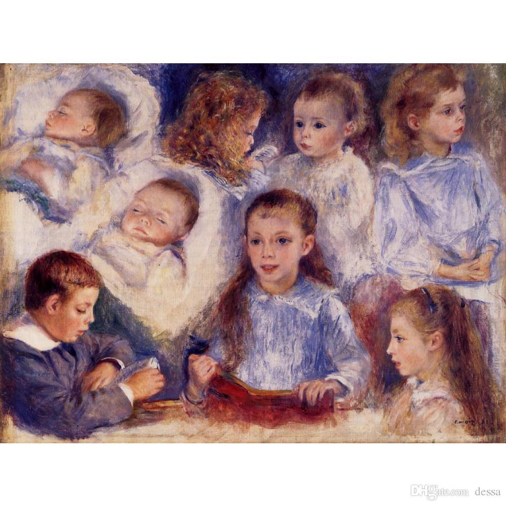 Handgemalte Pierre Auguste Renoir Kunstwissenschaft der Kinder von Paul Berard Pierre Auguste Renoir Leinwand Landschaft Ölgemälde Personal
