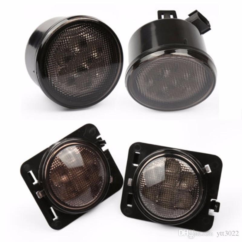 LED Front Turn Signal Light for Jeep Wrangler JK 2007-2016 Yellow Amber Light Fender Side Light Combo Lens for Jeep Wrangler