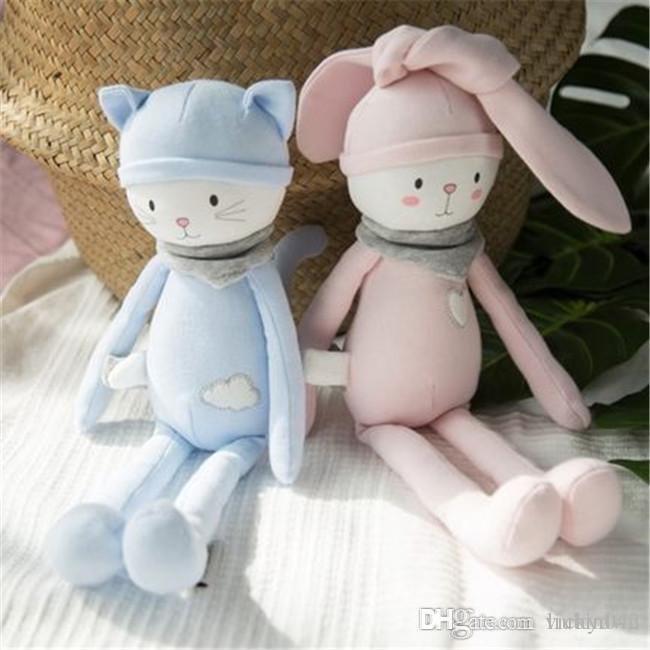 20170718 Sıcak Satış Yeni Bebek İnme Doldurulmuş Hayvanlar Ve Peluş Oyuncak Sevimli Tavşan Bebek Doğum Günü çocuk Günü Hediyesi Için Ücretsiz nakliye