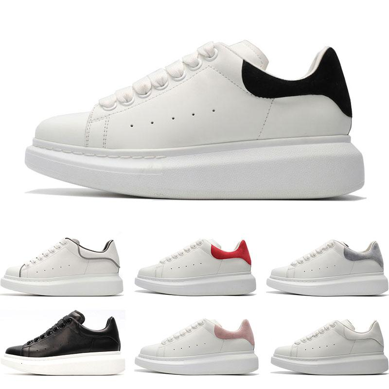 2019 scarpe casual di lusso in pelle bianca di design per ragazza donna uomo sneakers piatte moda oro nero rosso taglia 35-44