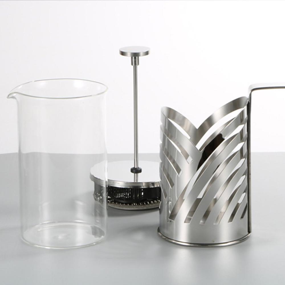 Edelstahl Französisch Press Kaffeemaschine isolierte Kaffee Tea Brewer Pot Kaffeebereiter Percolator-Werkzeug mit Filterkörben