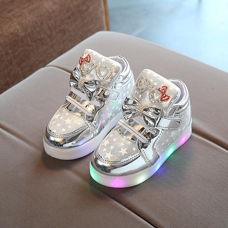 Toddler Baby Shoes Fashion Sneakers For Children Girl Boys Star Luminous Child Casual Colorful Light Shoes Sneakers 2020