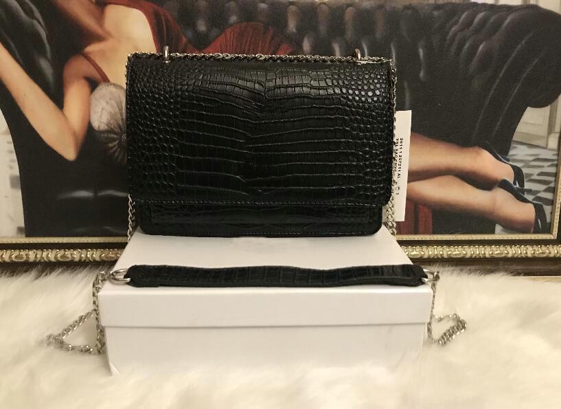 أحدث مصمم حقائب جلدية الكلاسيكية المرأة حقيبة يد سلسلة الكتف الفاصل حمل الحقائب رسول حقيبة محفظة CROSSBODY التسوق اليد 25