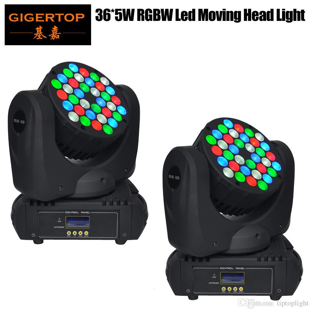 2pcs / lot freeshipping 36 X 5W LED de haz de lavado principal móvil de la luz 36 LED (R8, G10, B10, W8) supercompacto para el disco, barra, club