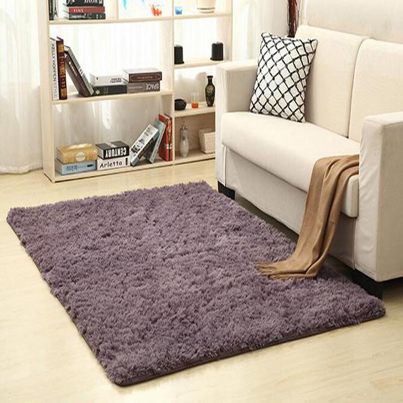 Fluffy Rugs Non-Skid Shaggy Area Rug Dining Room Carpet Floor Mat Bedroom Supply