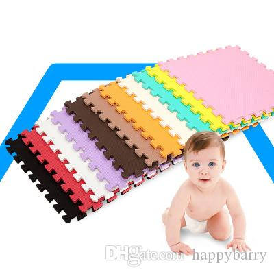 Baby kids Mat Foam Interlocking Exercise Gym Floor Play Mats Protective Tile Flooring Carpets 30X30 cm