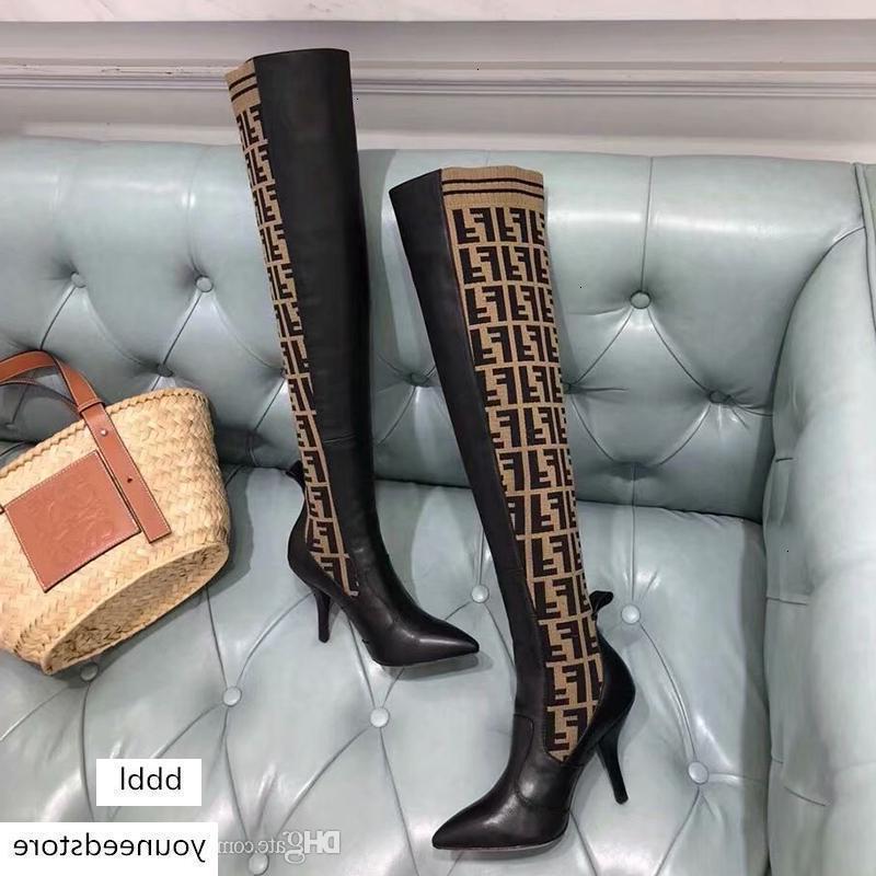 상자와 럭셔리 디자이너 여성 브랜드 부츠 배 노란색 가죽 무릎 부츠 여자의 허벅지 높은 양말 부츠는 캐주얼 신발