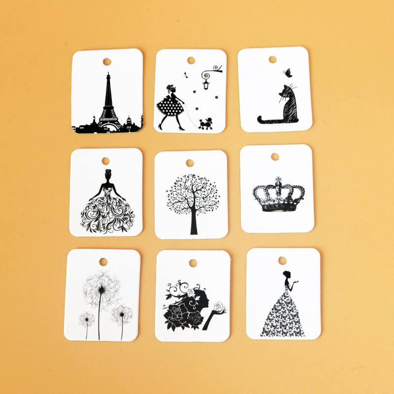 2.6x3.3cm 100pcs/lot Paper Tags DIY Craft Label Luggage Party Favor Wedding Party Note Hang Tag Labels Mark Gift Paper Tags