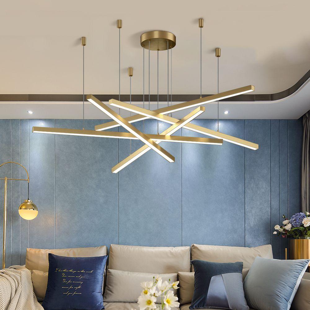 New Modern LED Chandelier Lighting Brief Gold Home Decoration Hanglamp  Living Dining Room Light Fixtures Kitchen Island Lamp Designer Pendant  Light ...