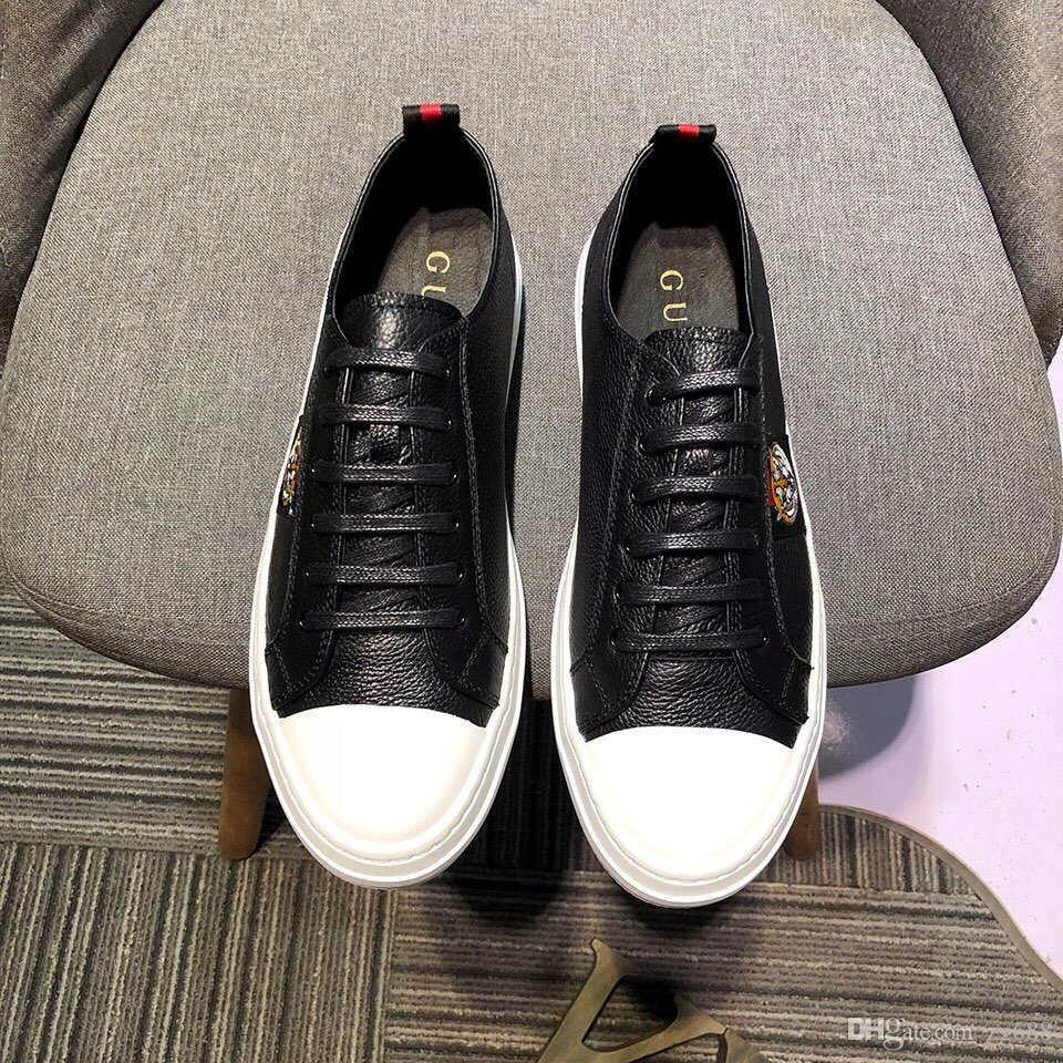 f9 New Luxury Designer Garçons Hommes Chaussures Casual Zapatos Casuales haute qualité sport en cuir plat Chaussures de course taille 40-44 DHL Livraison gratuite