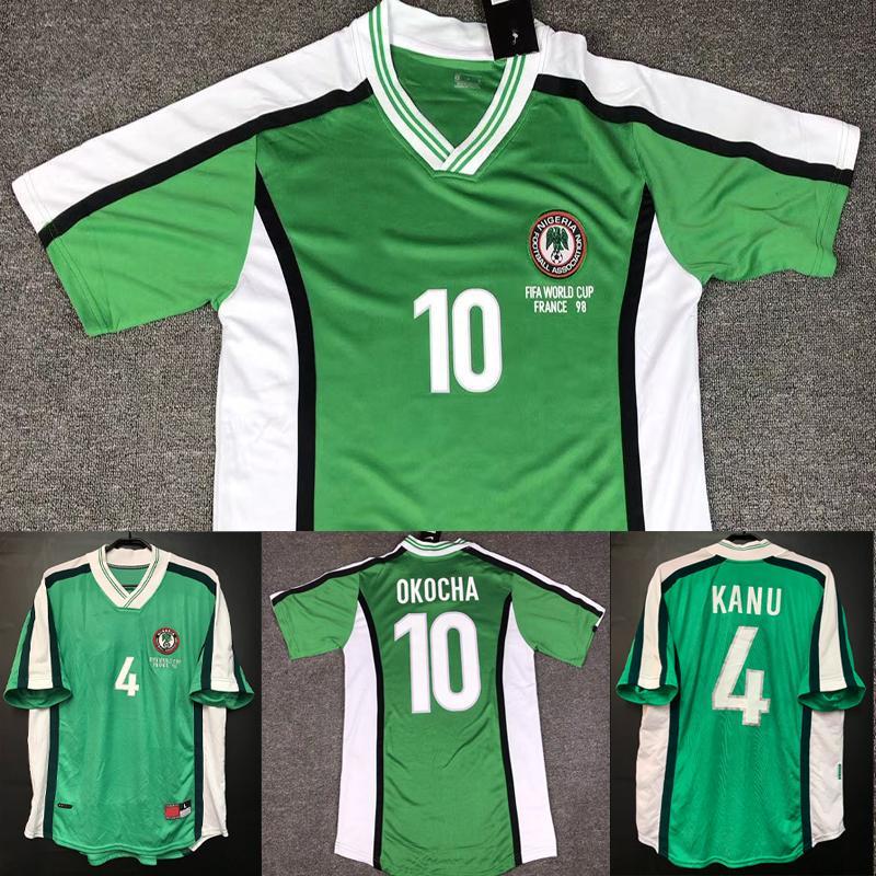 1998 Nigéria Retro camisa de futebol Início Okocha jérsei uniformes de futebol KANU MUSA MIKEL Okechukwu clássico