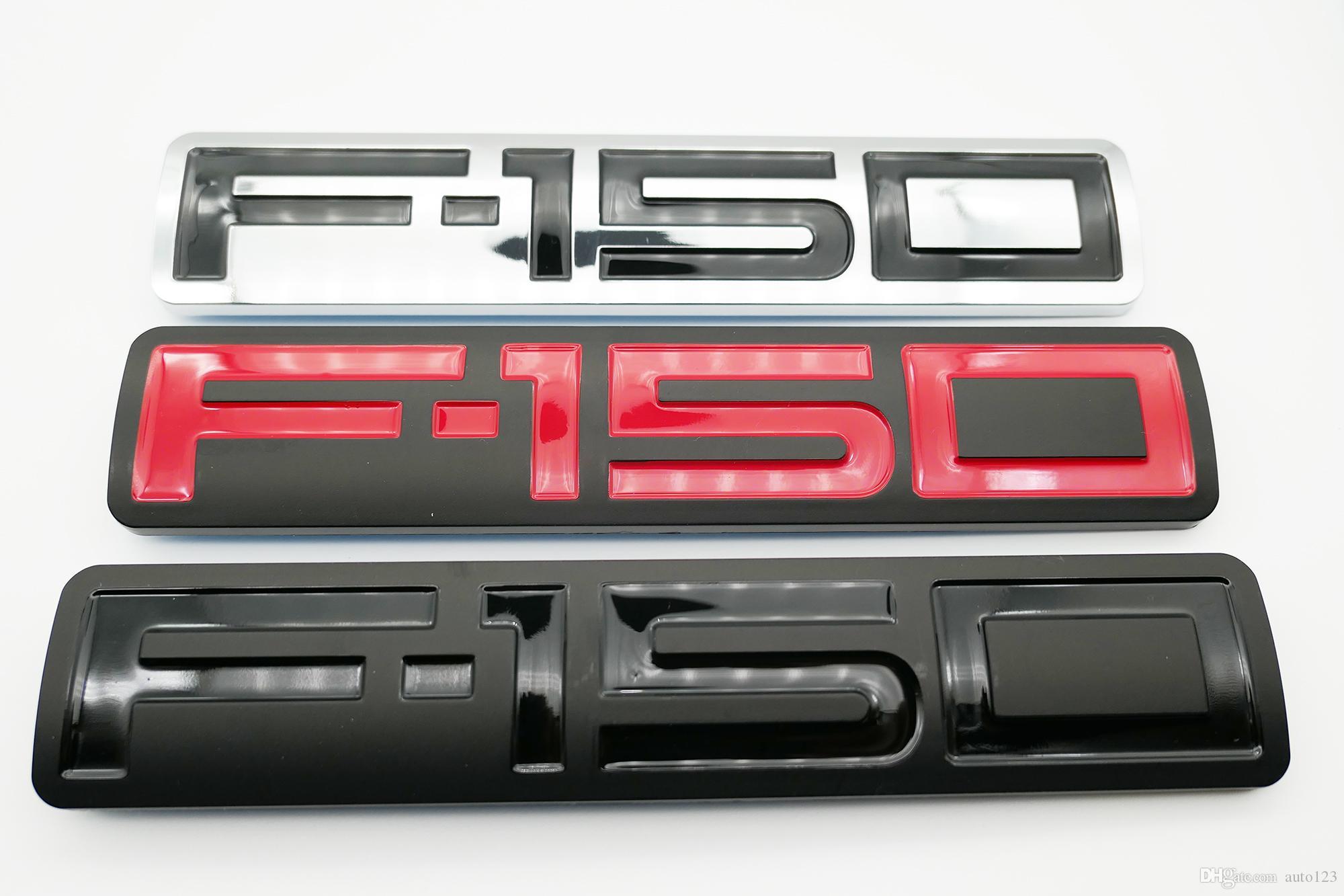 2004-2008 F150 için 1x Siyah Kırmızı Simli F150 Araç Yan Sticker Bagaj kapağı Arka Amblem Rozet Letter Premium 3D Tabela Değiştirme