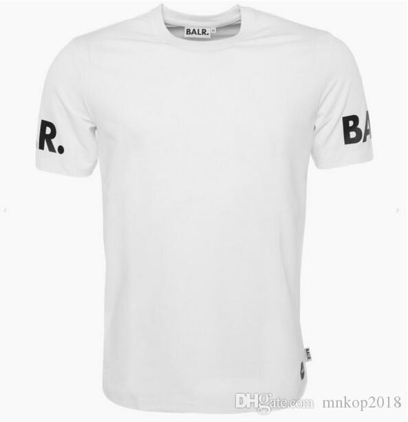 Maglietta Balr Maglietta Uomo Maglietta Maglietta Abbigliamento in cotone Lettera BALRED Maglietta stampa Tops Design aderente