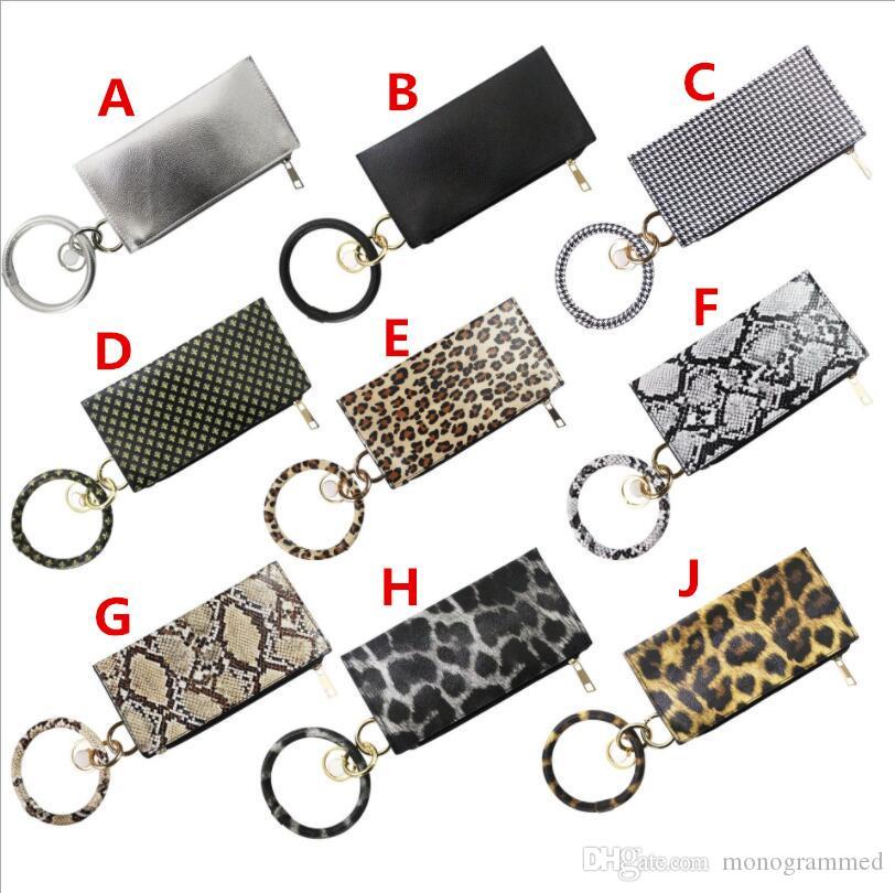 619194 monogrammé nouvelle mode multiful Porteclés et téléphone Porte-monnaie en cuir PU O Porte-clés avec sac assorti Wristlet