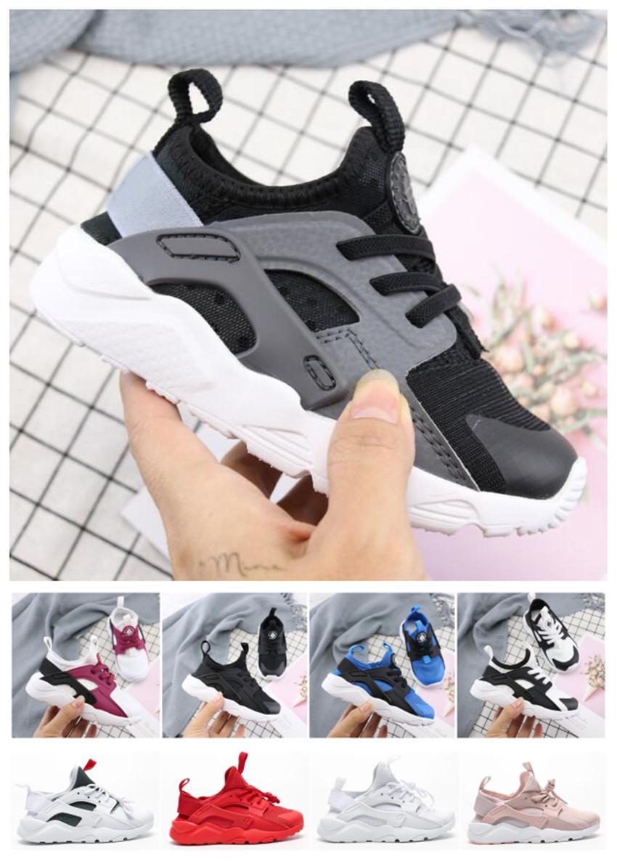 Çocuk Yeni Çocuklar Huarache 4.0 Koşu Ayakkabı Çocuk Tasarımcı Hurache Casual Eğitmenler Nefes Klasik Sneakers Bebek Bebek Boyut 22-35