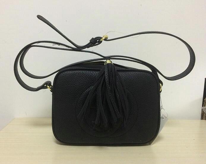 2020 neue, qualitativ hochwertige Art und Weise der Frauen, weibliche Designer Leder Quaste Soho Tasche Disco Umhängetasche Geldbeutel Handtasche mit Staubbeutel freies Verschiffen
