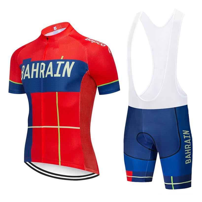 2020 équipe BAHREÏN CYCLISME JERSEY 20D short vélo mis en pantalon Ropa Ciclismo été MENS sec rapide pro BICYCLETTE Maillot usure