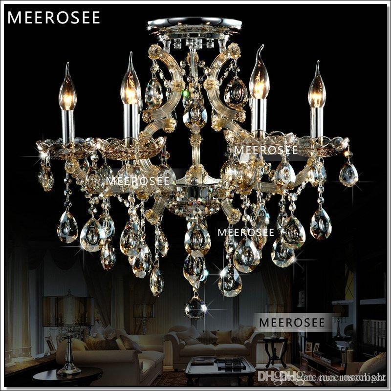 Cognac 6 Lights Living Room lampadario Chandelier hanging lamp modern chrystal chandelier MD8477C D620mm H550mm 100% Guarantee