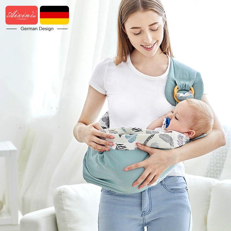 Bebê Carrega algodão Enrole Sling Transportadora recém-nascido Segurança Anel Kerchief Baby Carrier confortável infantil Kangaroo Bag