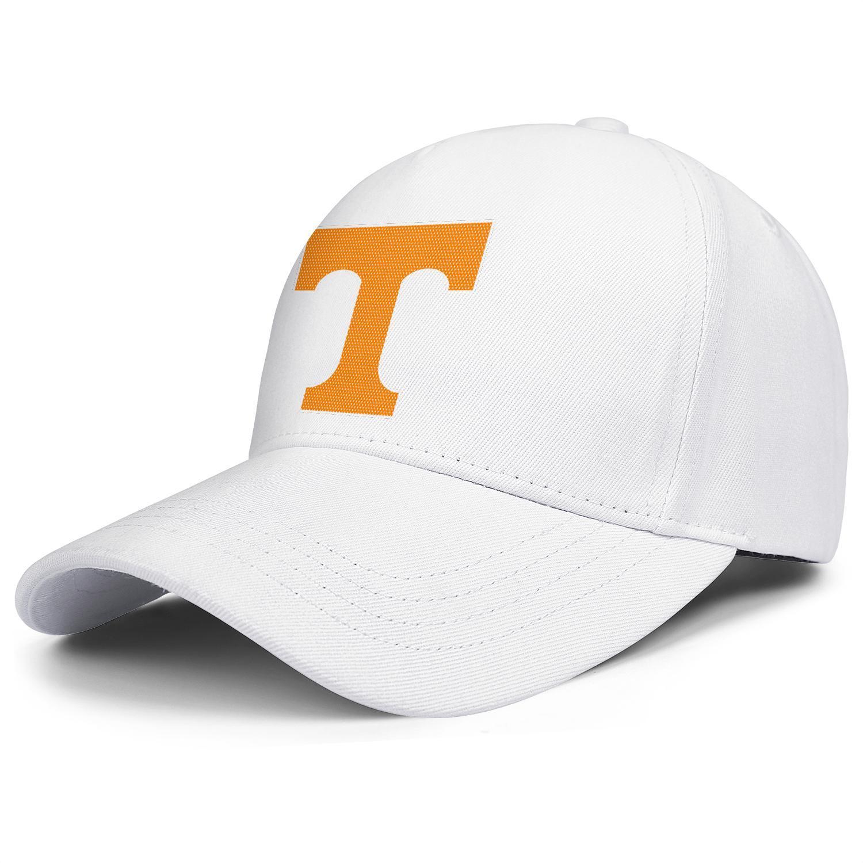 Tennessee Volunteers football logo Mesh Mens Women's Adjustable Ball Hats Summer Fishing Cap Round Logo black Coconut tree Marble Print