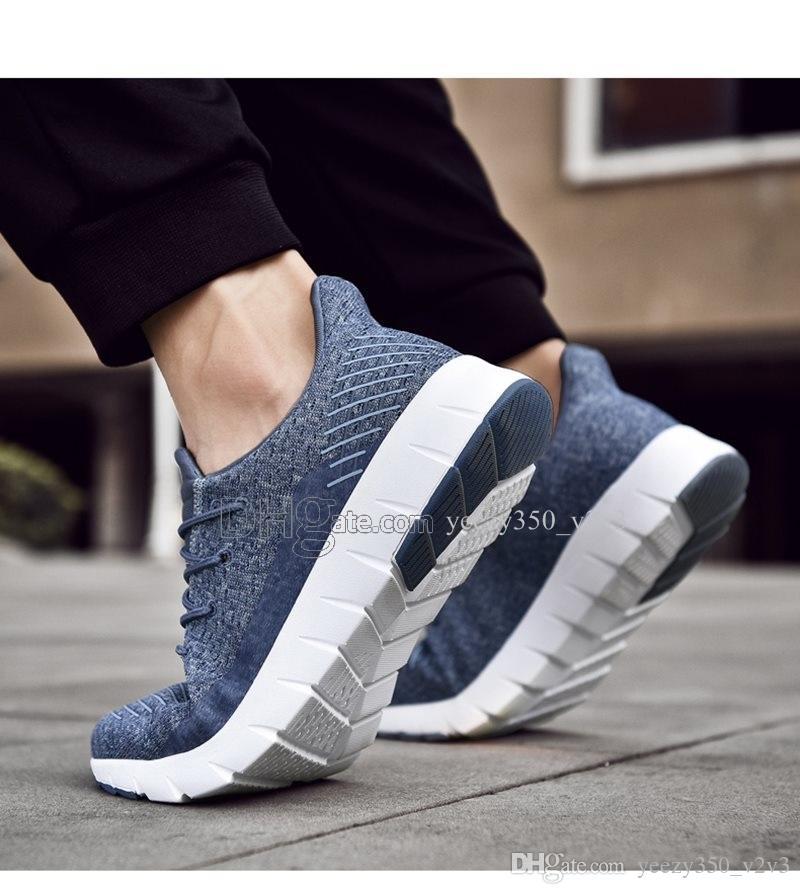 Venta caliente de los hombres de moda los zapatos de malla transpirable zapatillas de deporte de hombres caminando calzado cómodo de los nuevos zapatos para correr livianos D-200301140