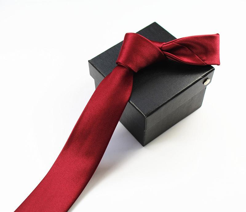 GUSLESON 2017 Mens alta qualidade Laço contínuo Plain 100% Silk magro magro Narrow Gravatá gravata gravata para os homens da festa de casamento formal