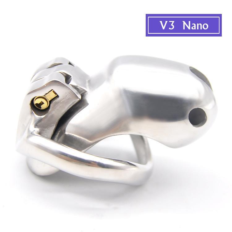 Прибор целомудрия нержавеющей стали V3 Мыжской, клетка крана, кольцо пениса 4 размеров для выбирает, кольцо крана, взрослая игра, Пояс Целомудрия