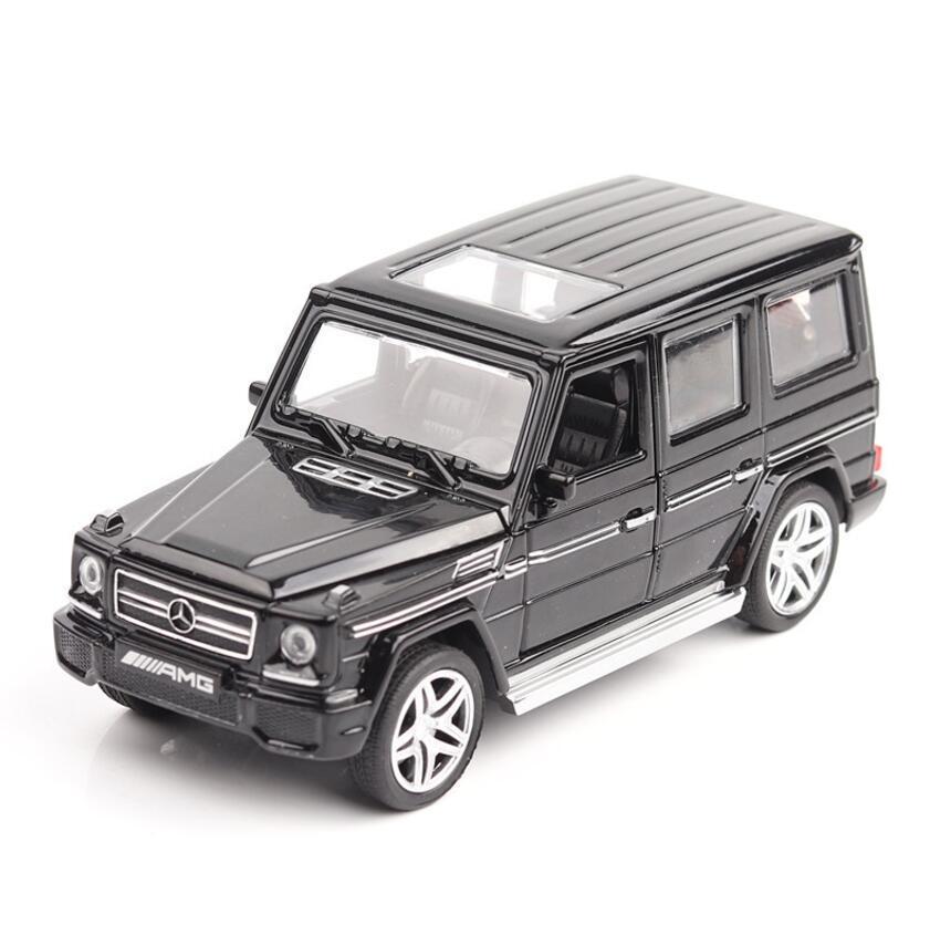 1/32 Diecasts Oyuncak Araçlar Mercedes G65 AMG Araba Modeli ile Soundlight Koleksiyonu Araba Oyuncaklar Erkek Çocuk Hediye Için Brinquedos Y200109