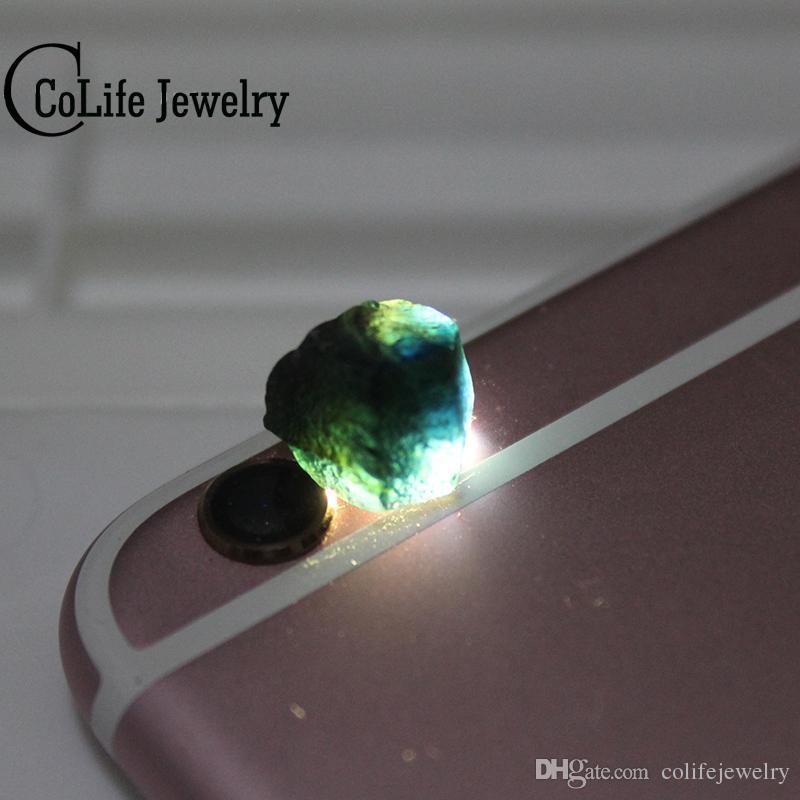 Promoción 3 piedras preciosas de zafiro en bruto piedras preciosas minerales preciosas zafiro en bruto de la mina de zafiro más grande de China