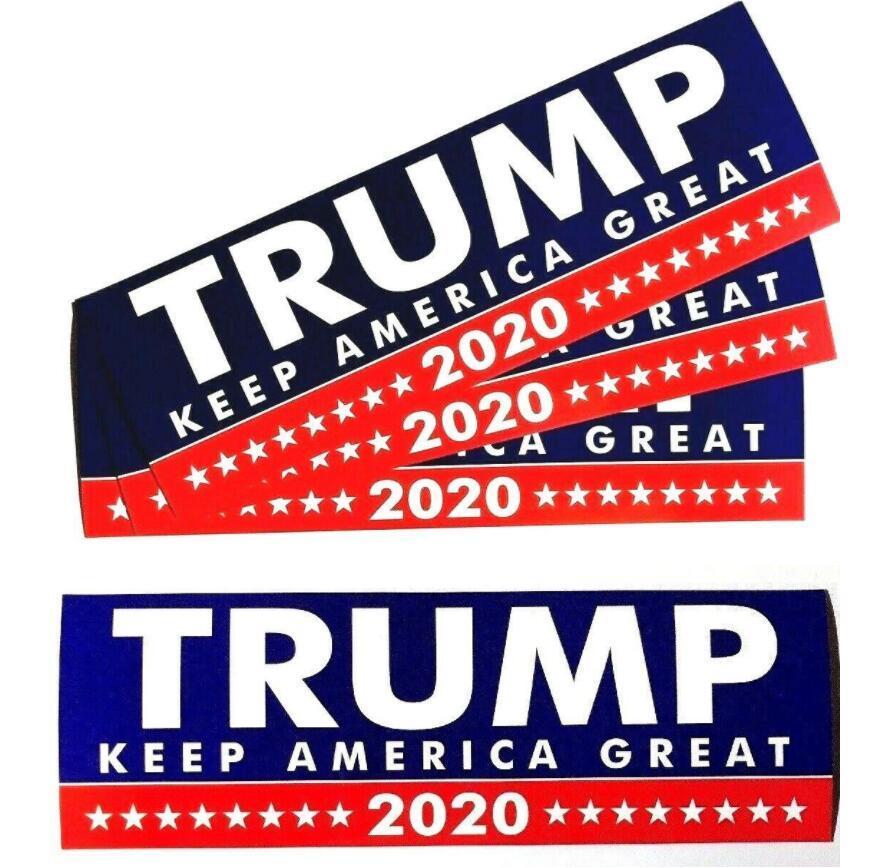 Car Sticker Donald Trump For President 2020 Bumper Body Keep Make America Great Decor Car Styling Fashion Stickers 10pcs/ Lot