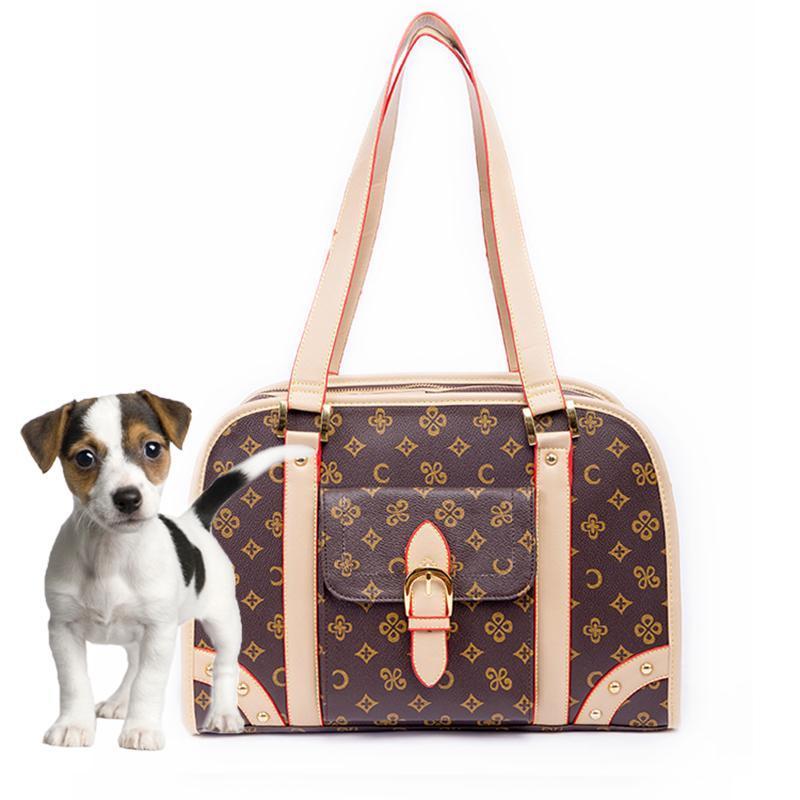الكلب الناقل حقيبة القطة الأليفة جرو صغير حقيبة السفر في الهواء الطلق حمل حمل حقيبة فاخرة تسوق طوي المحمولة مصمم كلب