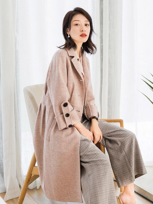 2020 Style Coréen Manteau Pure Laine Vestes Femme Printemps Automne Femmes Long Laine Manteaux d'hiver Pardessus Femmes 38017 YQ1624
