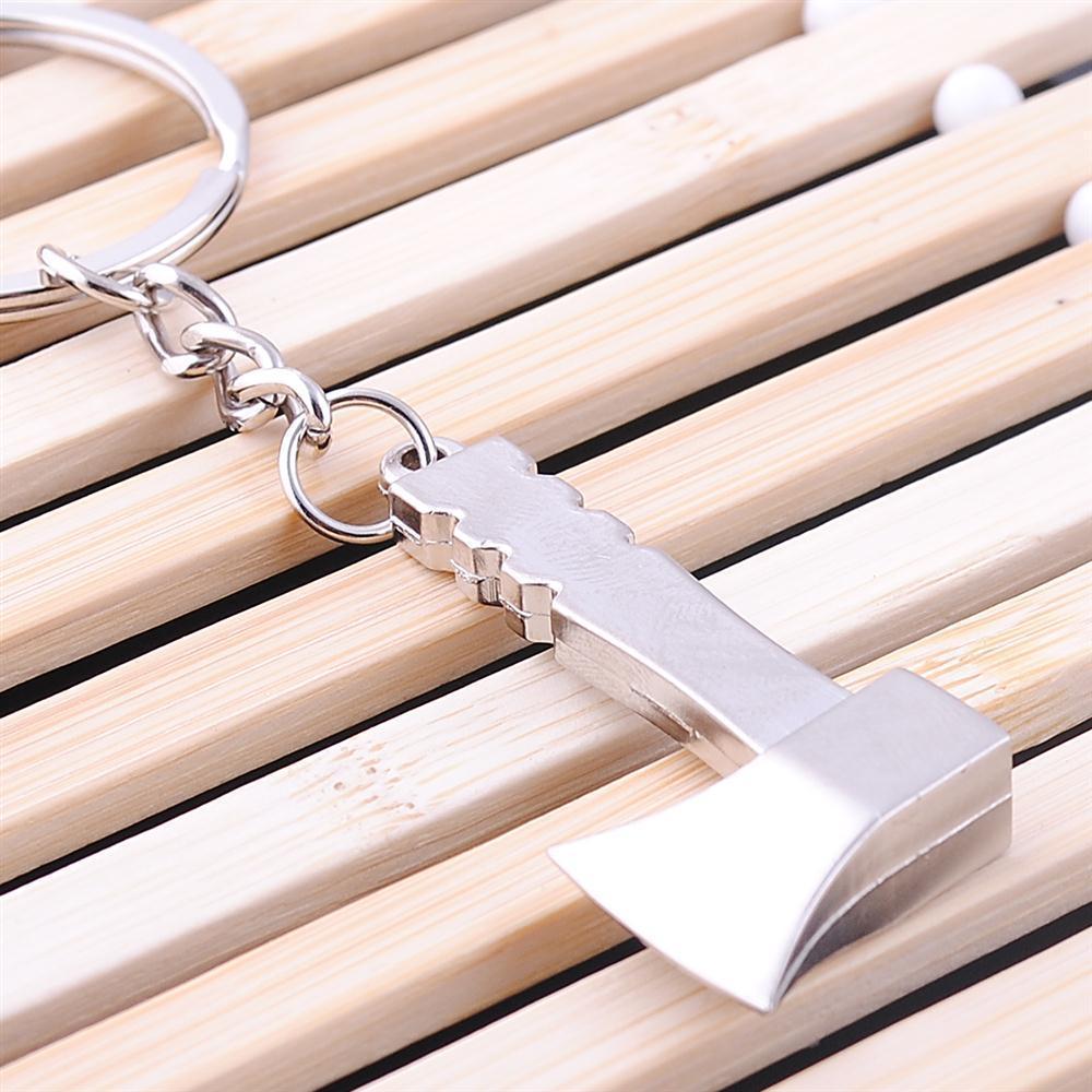 Llavero de la herramienta de trabajo de la novedad 100pcs / lot de aleación de zinc Mini Hacha llavero de metal para regalo