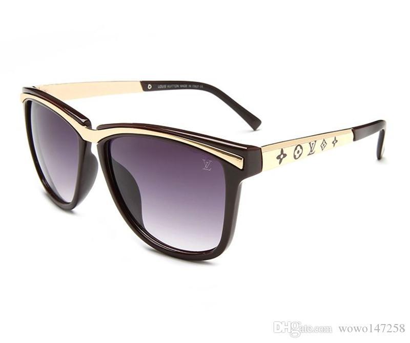 07 gafas de sol de las mujeres piloto marca de diseño de los hombres de lujo del espejo gafas de sol de gran tamaño V Claro Mujer 2018 vidrio de Sun de la lente Mujer Flat Top
