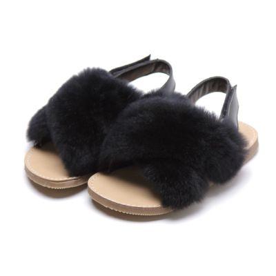 Filles Sandales Designer enfants Marque Sandal enfants Sandales avec fourrure enfants Chaussures Casual confortables été Fluat talon Chaussures 2020 Top Qualité