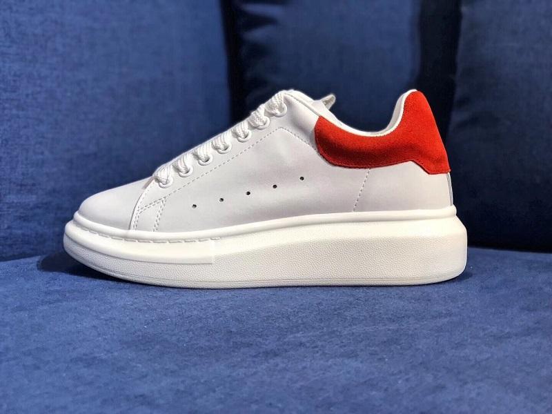 Diseñador 3MReflective blanco zapatos casuales de cuero mujer mujer hombre negro oro rojo rosa moda cómodo zapatilla plana tamaño 36-44