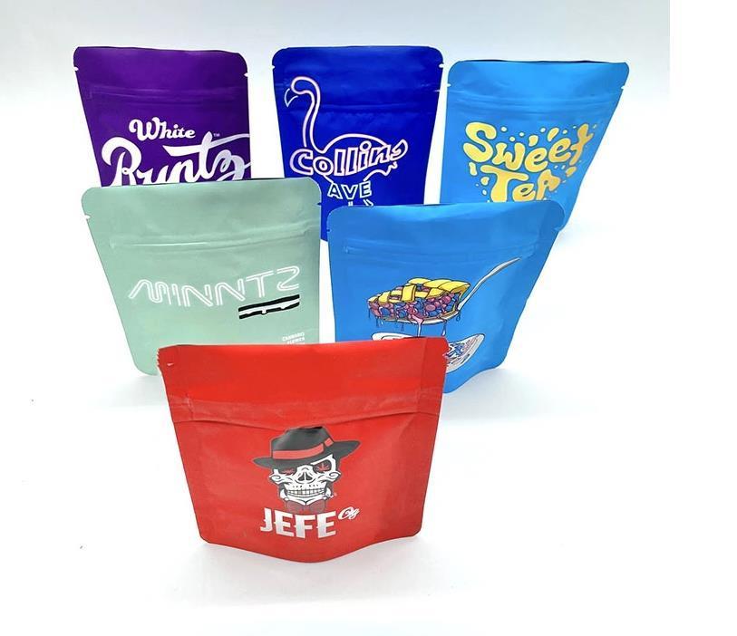 Gıda sopa çanta folyo Shortie'ler, Jeff, kurabiye, limon biber, sarı meyve, tang gri karışımı paketi Şeker Sakızlı Mylar paketleri Üç kenar-sızdırmazlık Kilitli