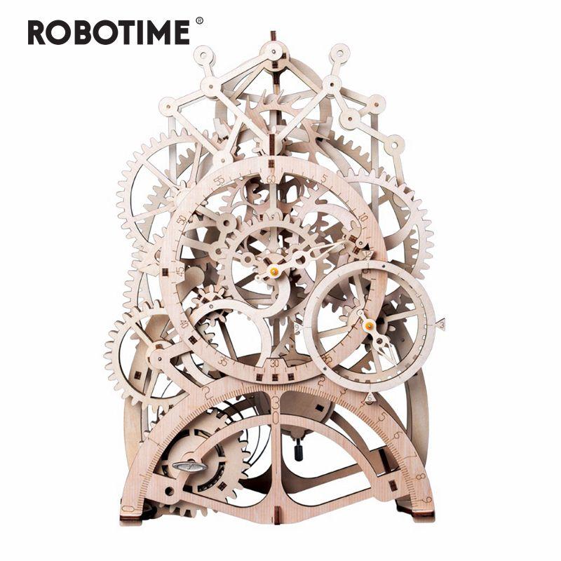 Robotime 4 tipos DIY Laser Cutting 3D modelo mecânico modelo de madeira Modelos de Kits montagem Presente Para Crianças Adulto Y200414