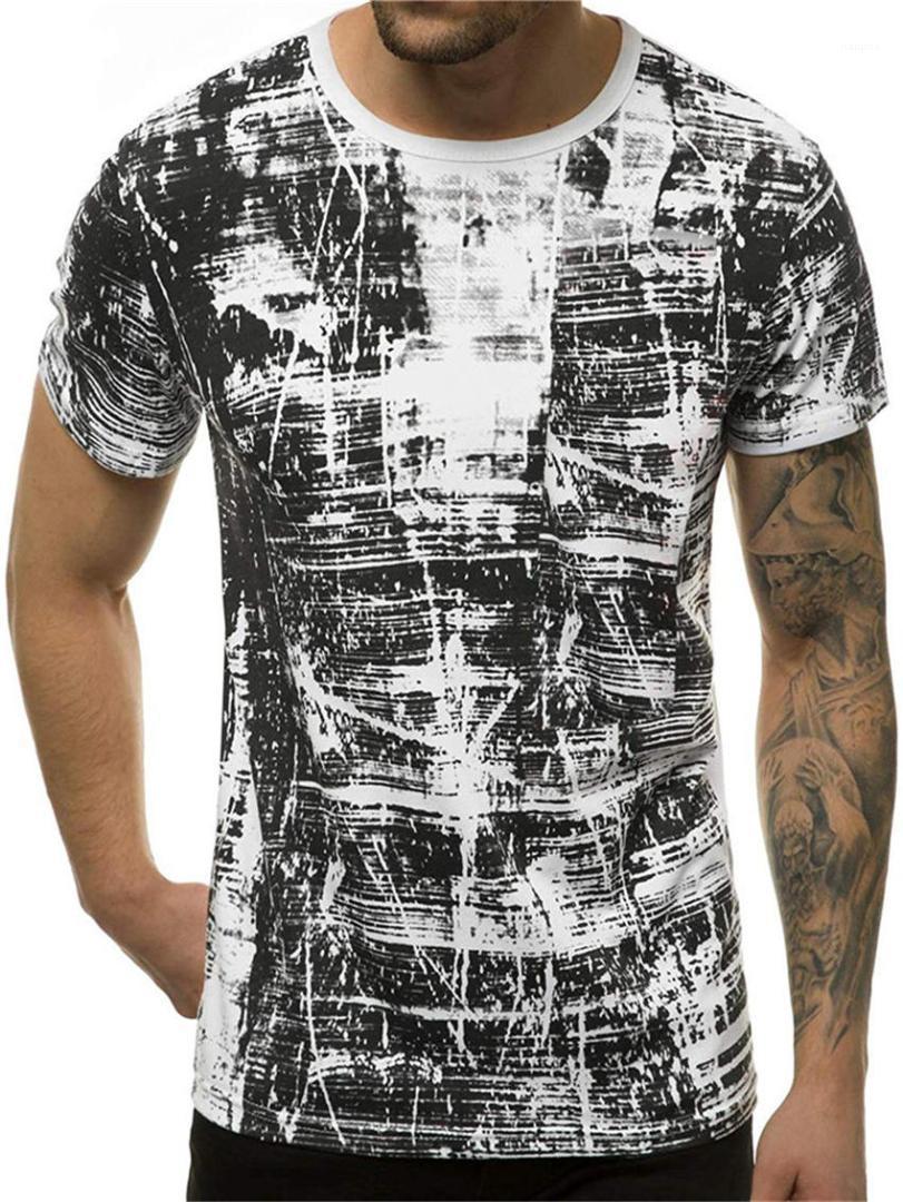 T-shirts à manches courtes encolure ras du cou Designer Homme Hauts Casual respirant Homme T-shirts avec motifs géométriques d'été Hommes