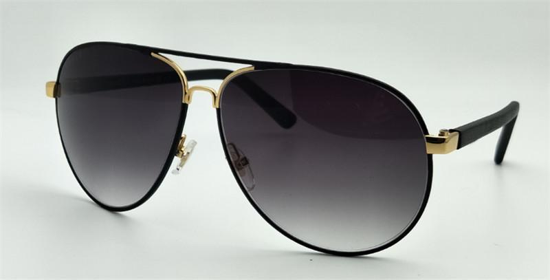 Lüks-yeni kadın marka güneş gözlüğü İtalyan tasarımcı güneş gözlüğü pilot çerçeve tam deri çerçeve klasik model UV400 lens ile orijinal ...