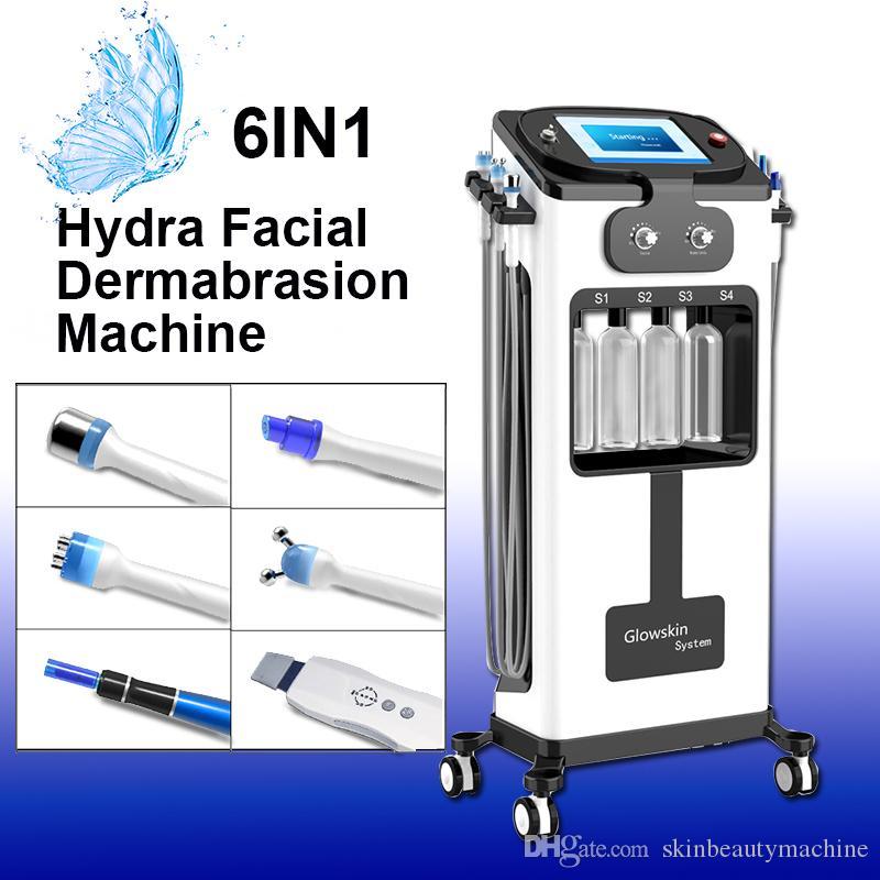 6in1 estrias dermapen Dispositivo de Remoção hydrafacial máquina dermoabrasão melhorar a textura da pele RF Bio-levantar máquina Facial