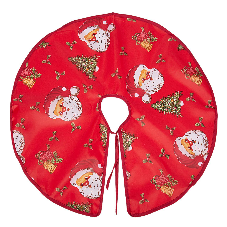 Мультфильм печать Санта-Клауса Рождественская елка юбки Рождественская елка Bottom украшения Диаметр Санта-Клауса голова