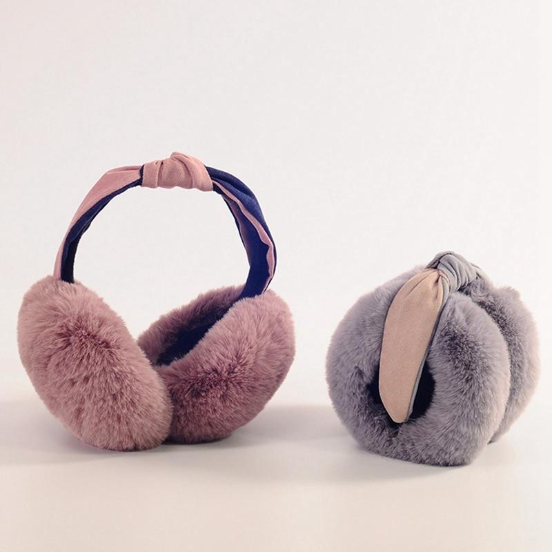 Fluffy and Soft Women/Girl Earmuffs U Pick Solid Color Winter Warm Soft Plush Earmuffs Ear Warmers Ear Muffs Earlap