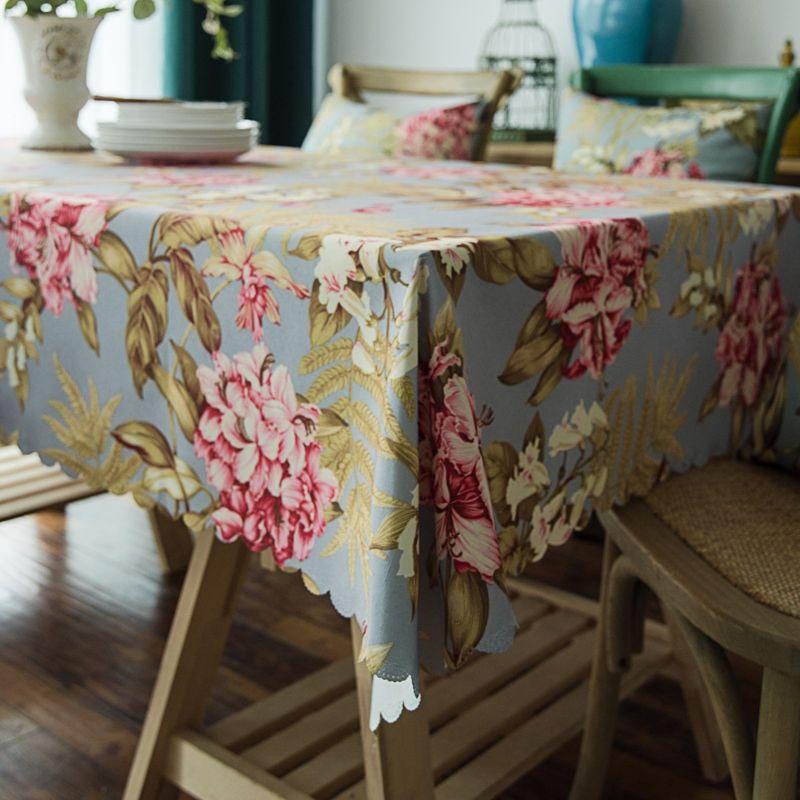 Table Cloth Cover Proof huile imperméable imprimé rétro Nappe Table basse Housse de protection Accueil salle à manger Cuisine Nappe décembre